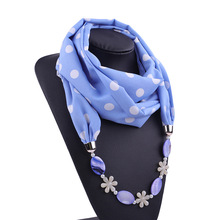 Pendant Scarf Necklace Hijab Foulard Femme-Accessories Women Bohemia Jewelry-Statement
