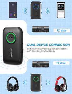 Image 3 - Приемник передатчик Mpow BH390 Bluetooth 5,0 2 в 1 с поддержкой APTX/APTX LL/APTX HD с разъемом 3,5 мм/RCA для ТВ, автомобиля, домашнего аудио, ПК