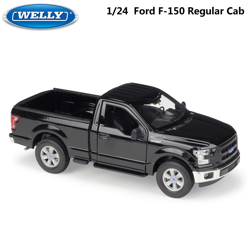 WELLY Diecast Model Car 1:24 Scale 2015 Ford F150 Regular Cab Simulator Pickup Truck Metal Alloy Toy Car For Boy Gift Collection
