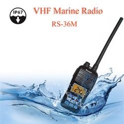 Marine VHF Radio Jüngsten RS-36M 156,000-161,450 MHz Neue wasserdichte IP67 Handheld Float Radio Stadion 5W zwei weg radio communicator