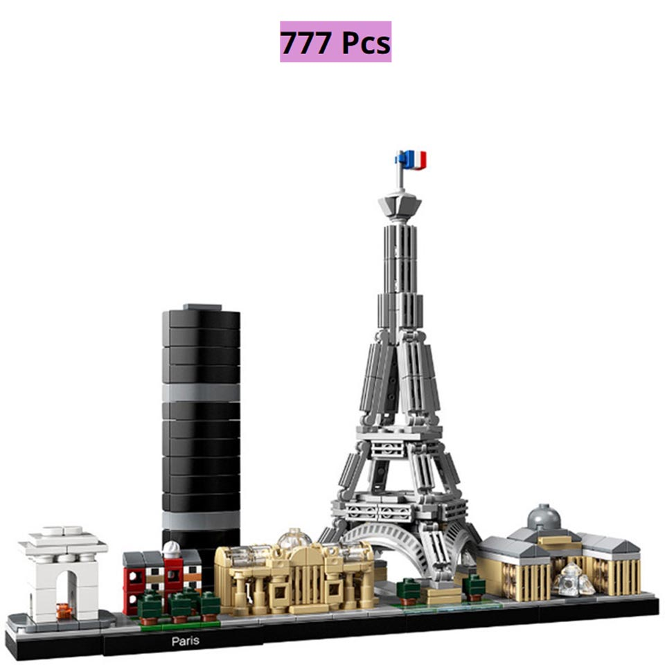 Architecture Skyline Collection Paris Collection Lepining City Building Blocks Kit Brick Classic Model Kids Toys Children Gift
