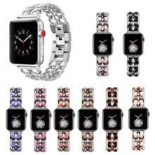 Etsy Bracelet avec bijoux avec chaîne fait à la main pour Apple Watch, 38mm 42mm 40mm 44mm, acier inoxydable, Bracelet iWatch série 2 3 4 5