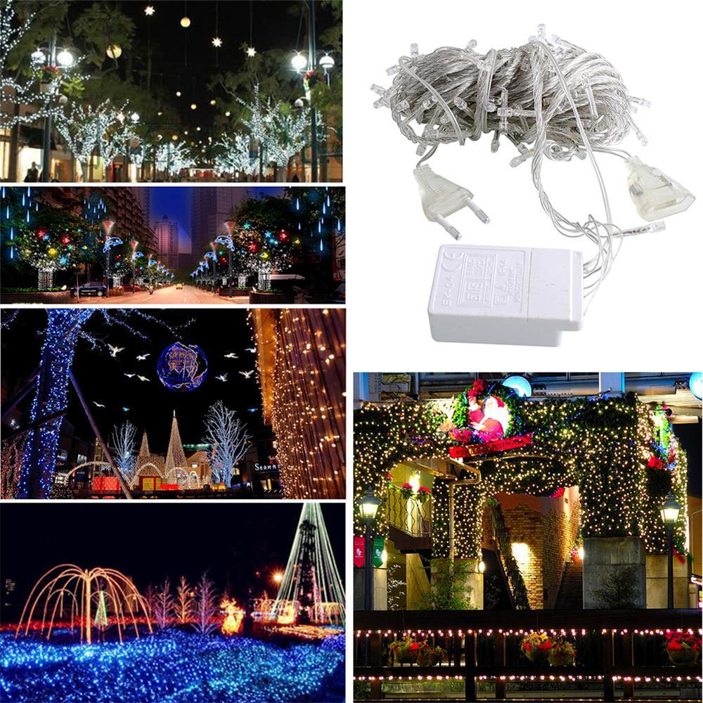 10M 100 LED Fairy String Light Christmas Wedding Party Decor Home Lamp 220V