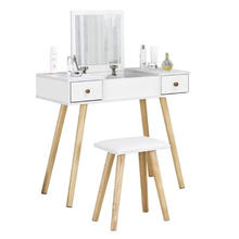 Макияж туалетный столик с 2 ящиками зеркалом и стулом для Шкаф