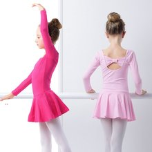 Girls Bowknot Ballet Dress Leotards Kids Gymnastics Lovely Pink Cotton Gymnastic Swimsuit