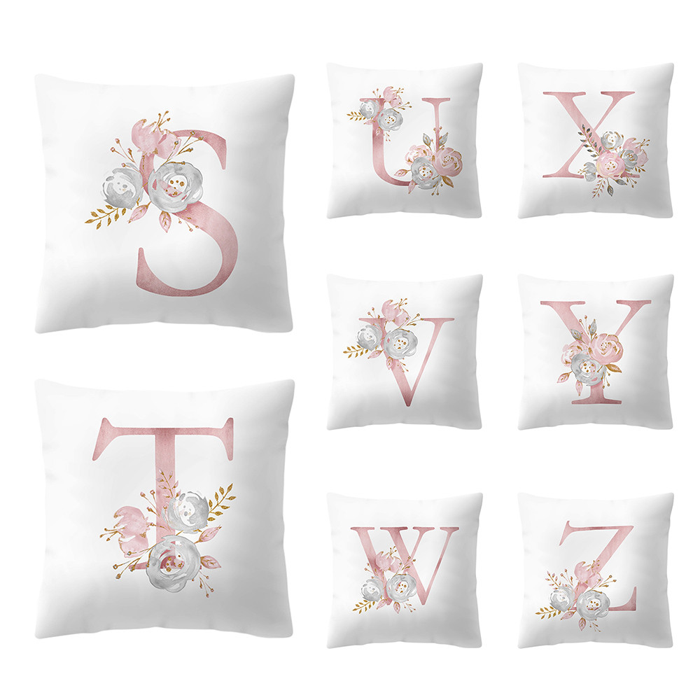 45x45cm Children's Room Pillow Case English Letter Pillowcase Home Life Soft Single-sided Embroidery Throw Pillowcase #10