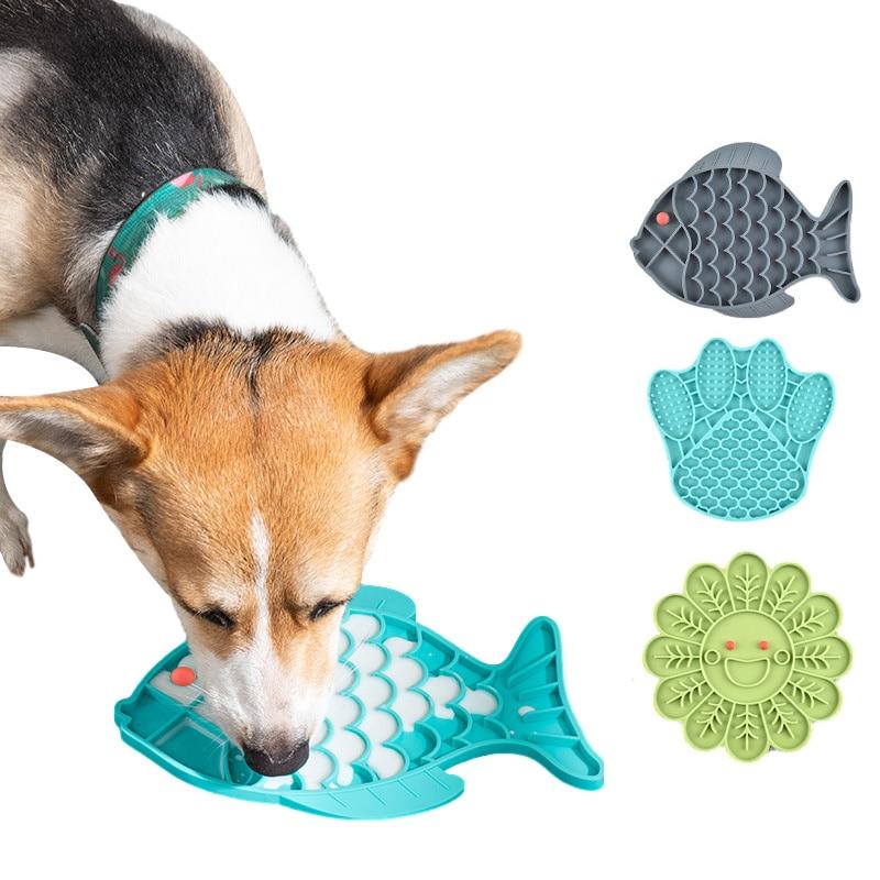 Silicone animal de compagnie chien alimentation Lick tapis chien alimentation bol pour Distraction chien gamelle pour ingestion lente traiter tapis de distribution chien accessoires