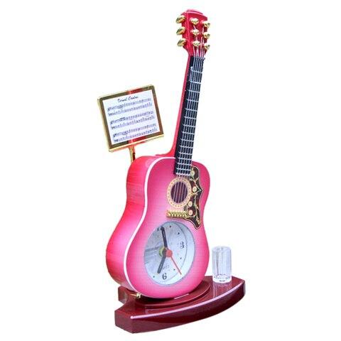 criativo guitarra forma despertador de pe relogio de mesa para decoracao de casa jogo musica