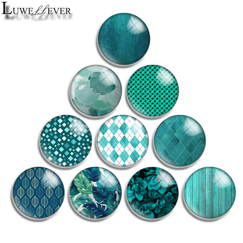 12mm 14mm 16mm 20mm 25mm 30mm 584 Green Mix Round Glass Cabochon Jewelry Finding 18mm Snap Button Charm Bracelet