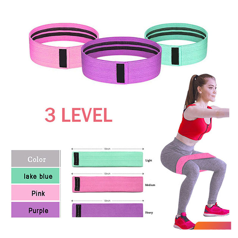 New Hip Circle Band Gym Fitness Thighs Anti-slip Pull Band For Expander Training Elastic Stretch Belt Yoga Resistance Bands