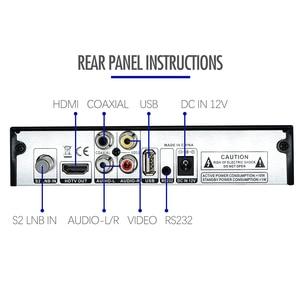 Image 5 - Mais novo dvb s2 hd 1080p receptor de tv por satélite dvb s2 receptor de satélite europa suporte decodificador youtube potência vu biss sintonizador de tv