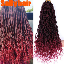 Braiding Hair Crochet Faux-Locs Bulk Synthetic Ombre
