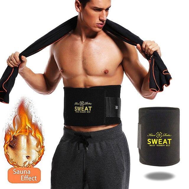 Waist Trimmer Sweat Belt Weight Loss Waist Trainer Slimming Belt for Men and Women Fat Burner Low Back Support Mens Shaper