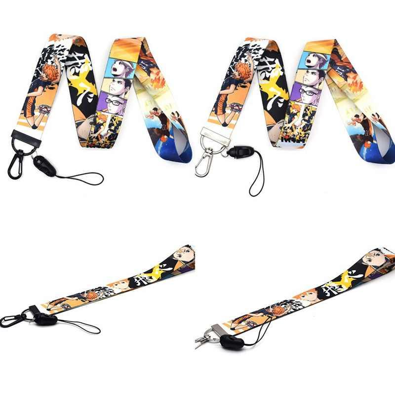 Haikyuu Lanyard Car Key Mobile Phone Hang Rope ID Card Badge Holders Mobile Phone Customizable Neck Straps