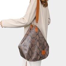 DIINOVIVO Serpentine Hobos Bag For Women Tote Large Shoulder Messenger High Quality Ladies PU Leather Handbags WHDV1300