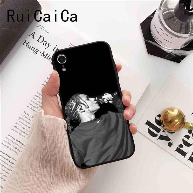 Ruicaica ASAP Rocky rappeur souple noir housse de téléphone pour iPhone 8 7 6 6S 6plus 5 5S SE XR X XS MAX Coque Coque