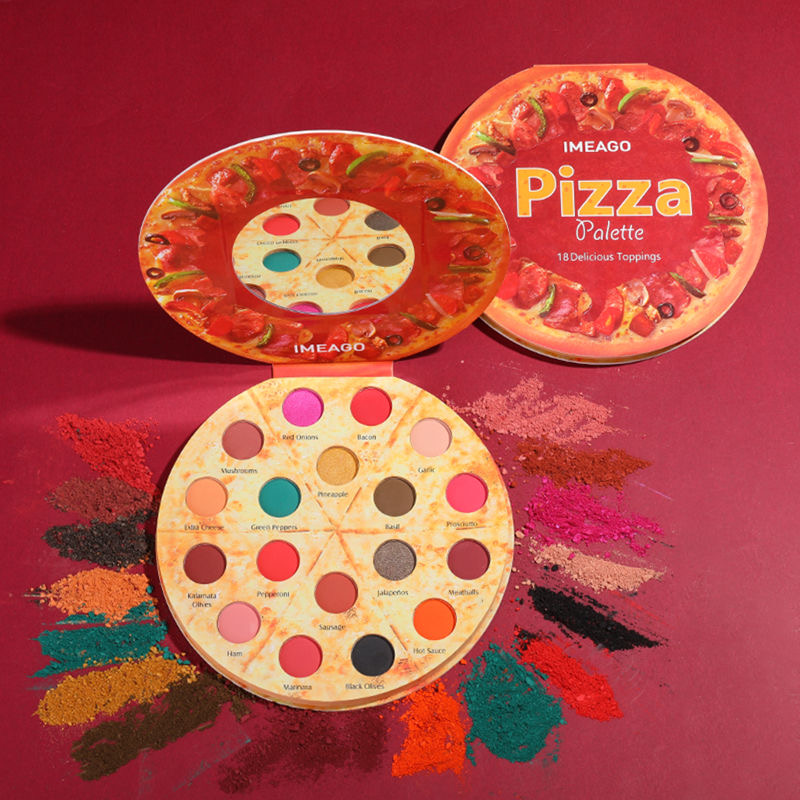 europeu e americano popular maquiagem bandeja pizza 18 color eyeshadow fosco pearlescent eyeshadow bandeja