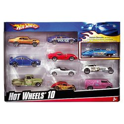 Set of metal machines Hot Wheels, 10 pieces