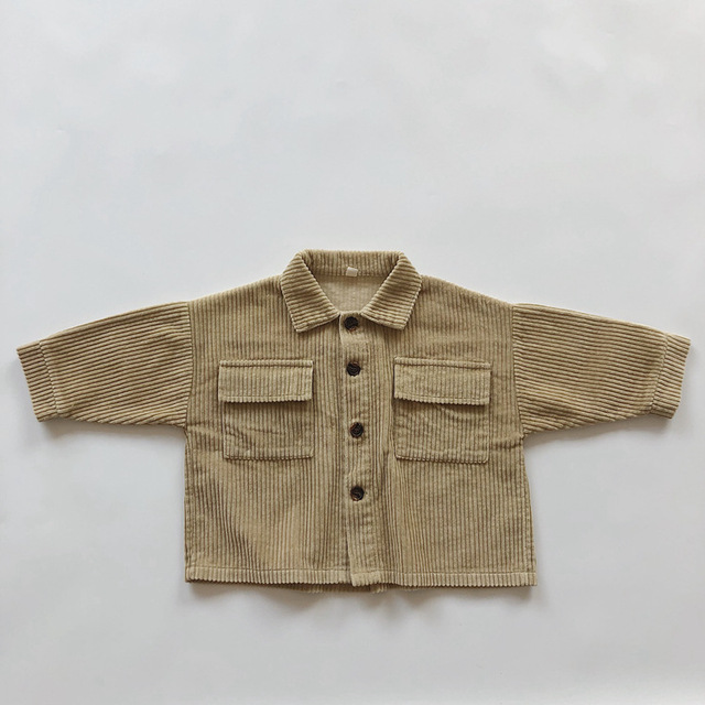 Kids Tops Coat Long Sleeve 2020 New Autumn Simplicty Corduroy Girls Coat Baby Jacket Boys Jackets Toddler Girl Winter Clothes 3