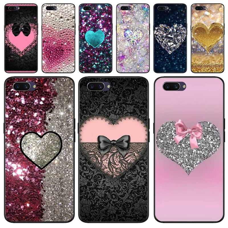 BaweiTE Fashion bling love Coque Shell Phone <font><b>Case</b></font> For <font><b>OPPO</b></font> F5 F9 F3 <font><b>F11</b></font> <font><b>pro</b></font> A92020 K1 A77 RENO A52020 image