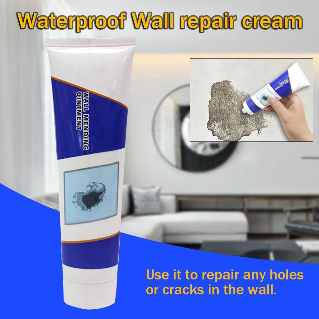 Wall Crack Repair Cream Waterproof Non-corrosive Formaldehyde Free White Latex Tile Grout Wall Repair Cream Wall Mending Agent