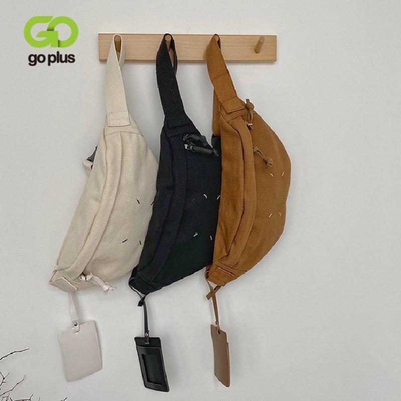 GOPLUS 2020 New Fanny Pack Waist Bags Corduroy Belt Chest Bag Sport Casual Women's Messenger Canvas Chest pochete homem