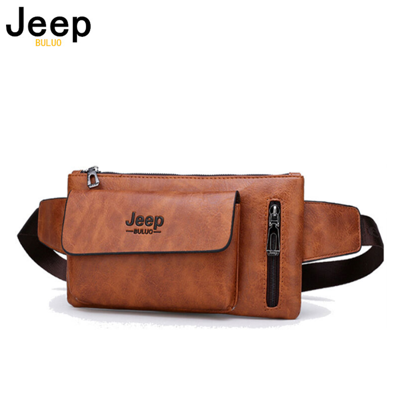 JEEP BULUO Big Brand Men Sling Bag Fashion Backpack Casual Leather Chest Waist Bag Crossbody Daypacks For College Teenagers New