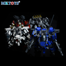 Alpha Squad Mini Mech Robot Bricks Military Series Galaxy Wars Soldiers Fighter MOC Model Figures Building Blocks Toys For Boys