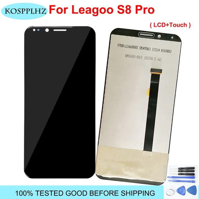 """100% اختبار ل LEAGOO S8 برو شاشة الكريستال السائل شاشة تعمل باللمس LCD محول الأرقام زجاج لوحة استبدال 5.99 """"LEAGOO S8Pro أداة لاصقة"""