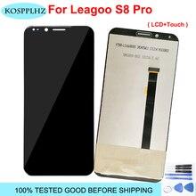 """100% testado para leagoo s8 pro display lcd + tela de toque lcd digitador substituição do painel vidro 5.99 """"leagoo s8pro ferramenta adesivo"""