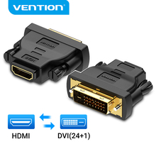 Vention DVI to HDMI Adapter Bi-directional DVI D 24+1 Male to HDMI Female Cable Connector Converter for Projector HDMI to DVI