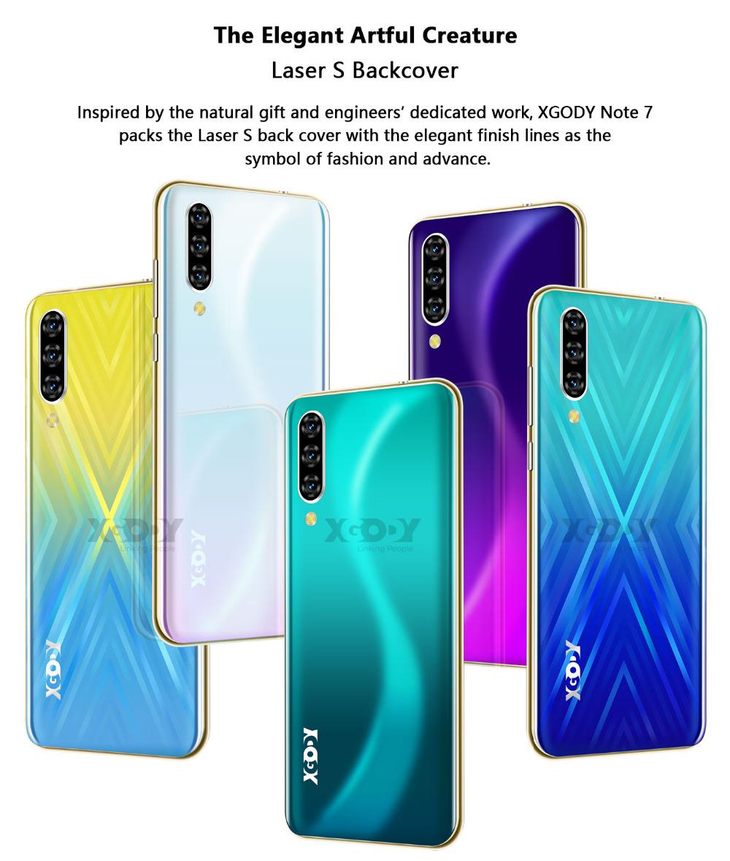 Xgody 3G teléfono móvil Note7 2GB 16GB Smartphone 6,26 4