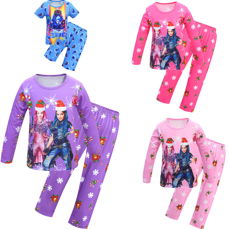 Nouveau descendants Cartoon tee shirt Toddle Filles Tops Kid Home pyjama