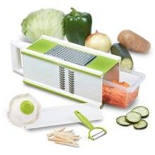 Горячая 5 в 1 коробка Терка для овощей Овощечистка ручной измельчитель для продуктов сыра слайсер контейнер для хранения инструмент TI99