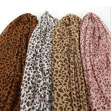 2019 New Fashion Lady Leopard Print Scarf Women Summer Long Scarves Shawls Chiffon Soft Femme Wrap Beach Sunscreen