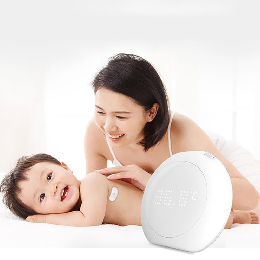 Fanmi FL - BFM001 24 Hour Intelligent Baby Fever Monitor Wearable Alerts Digital Accurate Smart Thermometer For Infant Toddlers