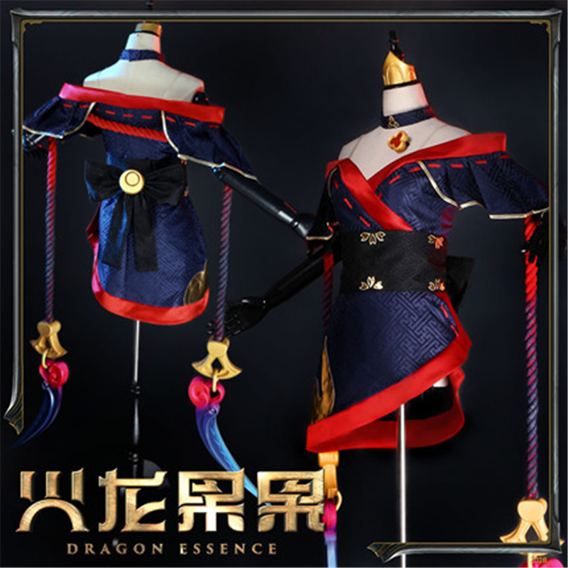 Anime LOL  Khada Jhin Evelyn New Skin Dress Cosplay Costume Hot Halloween Cos Uniform H
