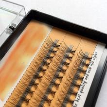 Натуральные пучковые длинные накладные ресницы 60 шт. в упаковке