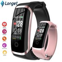 LONGET M4 نشاط المقتفي ساعة ذكية النساء مقاوم للماء Smartwatch النساء مراقب معدل ضربات القلب جهاز تعقب للياقة البدنية سوار ذكي الرجال