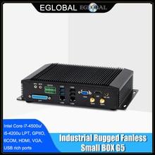 Industrial Mini Computer Core i7-8550U i5-8250U i3 DDR4 Rugged Fanless PC 6*COM 2*Intel Lans 8*USB GPIO LPT VGA HDMI 3G/4G WiFi