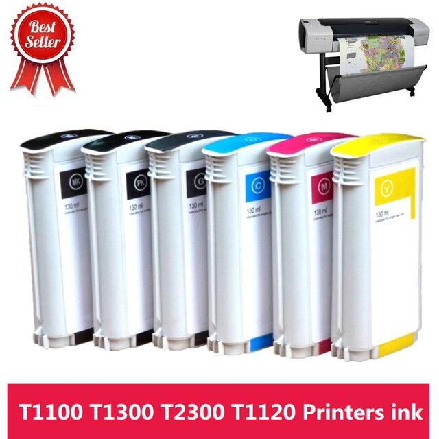 Encre De haute Qualité 72 Pleine 130ML Cartouche Dencre avec Puce pour HP T610 T620 T770 T790 T795 T1100 T1120 T1200 T1300 T2300