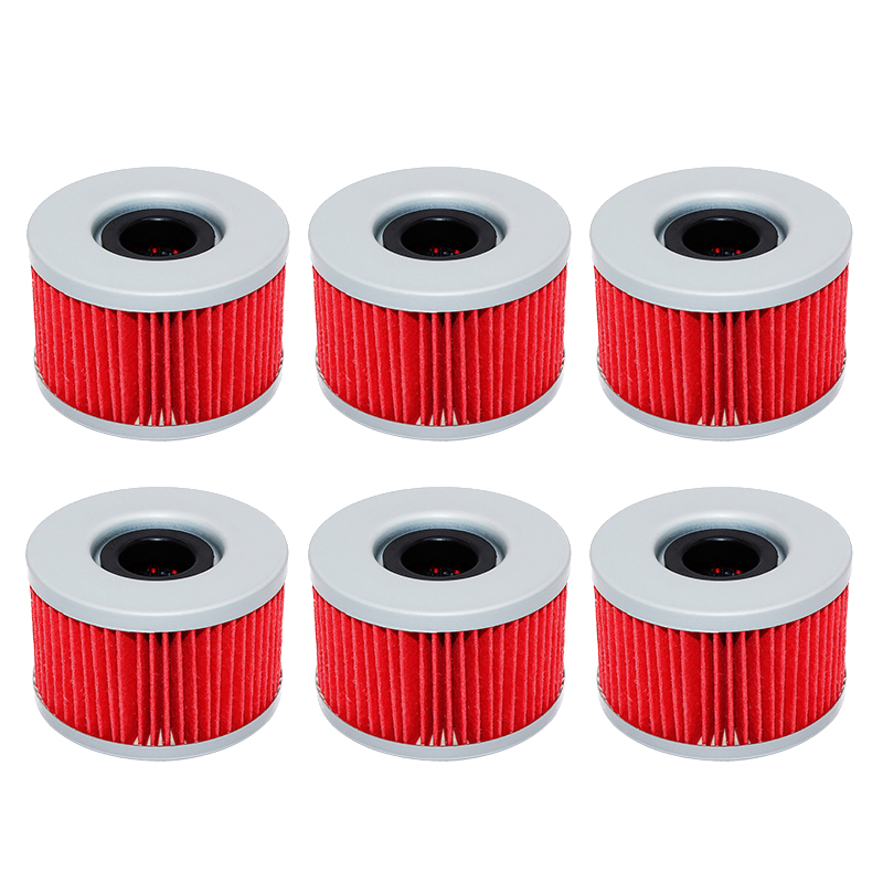 1/3/6pcs Motorcycle Engine Oil Filter for Honda CB250 CB <font><b>250</b></font> 1980-1985 CB400 CB 400 1978-83 CB450 CB 450 1982-1992 CB500T 75-77 image