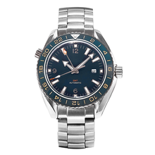 Men's Blue 43.5mm GMT Dual-Time Automatic Watch Sea master O
