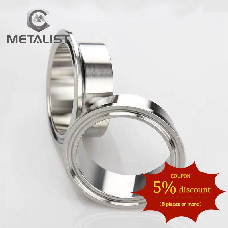 Metalista 19MM. 32MM. 38MM. 45MM. 51MM. 57MM. 63MM OD SS304 rura sanitarna ze stali nierdzewnej spawanie Ferrule spożywcze tri-clamp