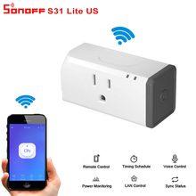 Sonoff S31 Lite Wi-fi Inteligente Interruptor Casa Inteligente EUA Plug Alexa Controll Voz Controle Remoto Inteligente Para Casa Com O Google Em Casa