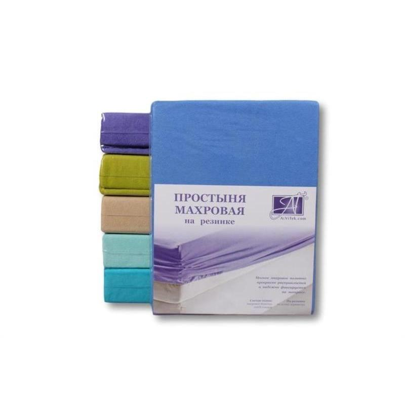 Bed Sheet with elastic band АльВиТек, 160*200 cm, Azure
