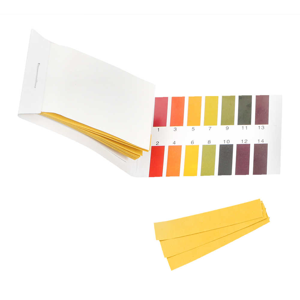 Тест-полоски для PH, лакмусовая бумага для аквариума, пруда, 80 полосок, полный диапазон алкалиновой кислоты, 1-14 тестов