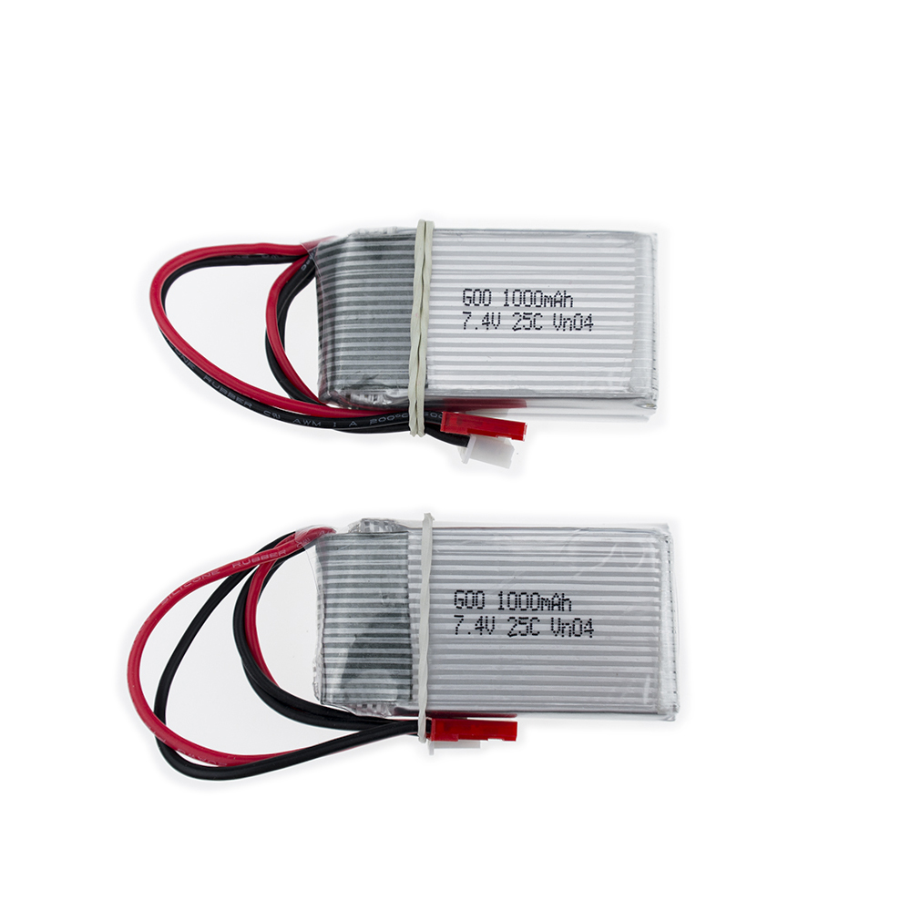 2 pcs 7.4V 1000mAh 25C <font><b>WLtoys</b></font> <font><b>V912</b></font> V915 Upgraded Battery For <font><b>RC</b></font> Multicopter Wholesale image