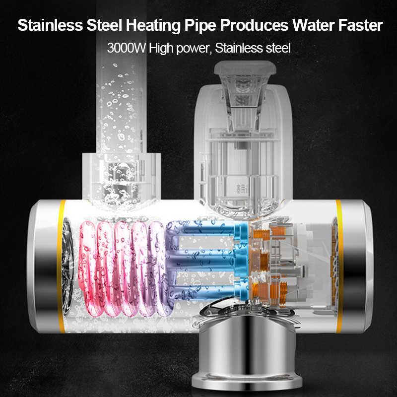 מיידי Tankless חשמלי דוד מים חמים ברז מטבח 360 ° Rotatable חימום ברז מים דוד עם LED טמפרטורת תצוגה