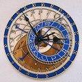 Прага астрономические деревянные большие настенные часы домашний декор кварцевые винтажные часы 12 Размер тишина Гостиная Декоративные Ви...